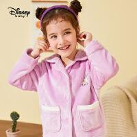 【3件3价券后预估价:71.7元】迪士尼女童加绒家居服套装2020秋冬新款宝宝儿童法兰绒睡衣裤子套装
