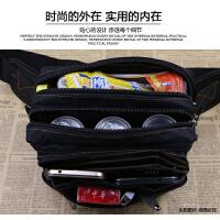 男士腰包男女多功能实用耐磨防水帆布包运动休闲户外大容量收银包