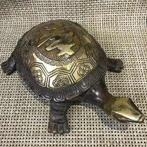 龙头大寿龟铜摆件