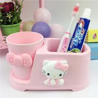 HelloKitty家用可爱卡通洗漱杯漱口杯牙刷架套装情侣刷牙杯牙具杯