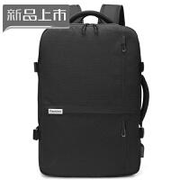 2018双肩包男士商务背包多功能15.6寸电脑包大容量出差旅行手提行李包 典雅黑