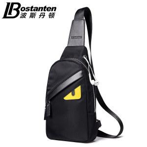 (可礼品卡支付)波斯丹顿新款胸包男帆布包男包背包休闲包男士包包单肩包斜挎包韩版潮B5171161