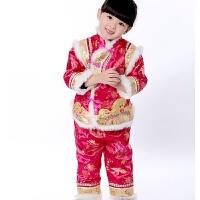 女童唐装冬宝宝周岁礼服女加厚冬装百天一岁婴儿中国风儿童新年装