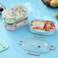 304不锈钢分格保温饭盒儿童便携便当盒带盖日式快餐盒