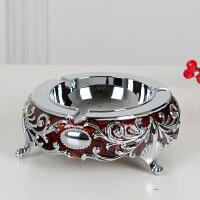 金属烟灰缸创意大号欧式个性时尚烟缸复古客厅茶几摆件装饰品