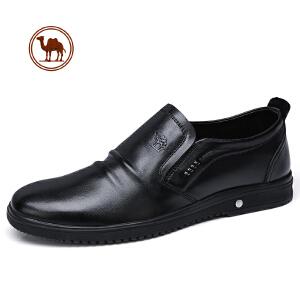 骆驼牌男鞋 春季新品全软面轻便套脚轻柔舒适商务休闲皮鞋