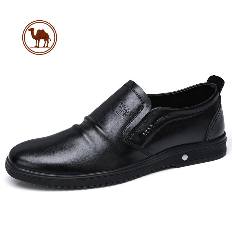 骆驼牌男鞋 2018春季新品全软面轻便套脚轻柔舒适商务休闲皮鞋