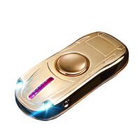 充电打火机 跑车陀螺 带灯可换丝创意指尖陀螺点烟器USB充电