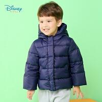 迪士尼Disney童装 男女童加厚连帽羽绒服冬季新品保暖防风外套简约风上衣194S1282