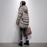 2018冬季新款小个子茧型羽绒服韩版中长款宽松显瘦时尚女装外套潮
