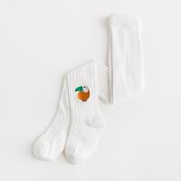 纯棉女童连裤袜春秋薄款儿童打底裤袜连体袜针织卡通宝宝长筒袜子 白色 大嘴鸟
