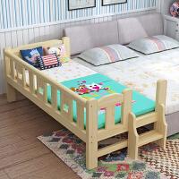 实木儿童床男孩女孩带护栏公主床小床边床单人床定做床加宽拼接床 其他