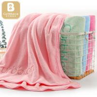 【两件包邮】卡伴孕婴童婴儿成人儿童浴巾毛巾包边绣字浴巾小毛巾组合