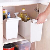 家用多功能塑料带轮厨房用品餐具碗筷橱柜收纳盒调味料厨具置物架