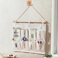 衣柜门后布艺悬挂式收纳挂袋寝室宿舍墙上多层壁挂式收纳袋置物袋