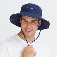遮阳帽男士夏季户外登山折叠休闲韩版渔夫太阳帽