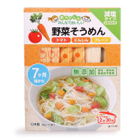 日本进口良品番茄胡萝卜小麦细面 3种口味 180g婴儿面条宝宝辅食