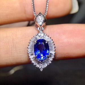 斯里兰卡蓝宝石吊坠,豪华款