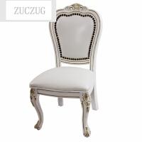 ZUCZUG沙发凳欧式小椅子实木矮凳木凳子靠背客厅板凳真皮茶几凳