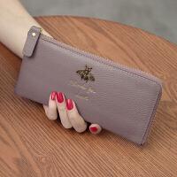 新款韩版长款女士钱包皮手包手机钱夹头层牛皮拉链手拿包潮