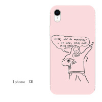 粉系少女款iphone7苹果6s手机壳6plus硅胶8x软壳5s/xr/xs max防摔