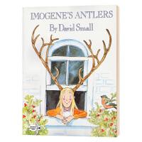 伊莫金的鹿角 英文原版绘本 Imogene's Antlers 亲子阅读 英文版少儿英语课外读物 凯迪克奖名家大卫司摩