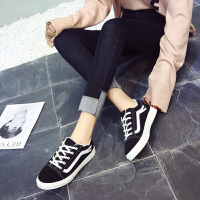 乌龟先森 运动鞋 女士平底系带加绒帆布鞋冬季新款韩版女式时尚休闲舒适百搭学生休闲鞋鞋子