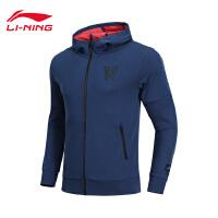 李宁卫衣男士新款篮球系列长袖外套连帽修身男装上衣运动服AWDN341
