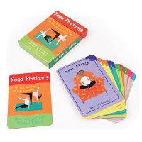 英文原版 儿童瑜伽姿势卡片 亲子练习 Yoga Pretzels (Yoga Cards)