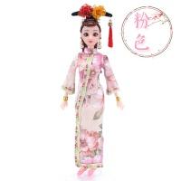 克时帝芭比娃娃古装古代旗袍仿真公主衣服单个仙女女孩玩具礼物 粉