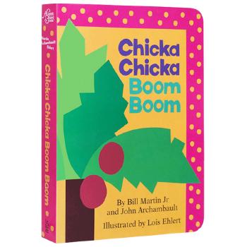 叽喀叽喀碰碰 英文原版 Chicka Chicka Boom Boom 廖彩杏书单 入门启蒙早教26字母儿童纸板童书 凯迪克大奖绘本 进口英语书籍正版凯迪克大奖绘本 耐撕纸板书
