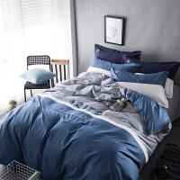 床套四件套1.8m纯棉床单被套1.5被子床上三件套床笠2.0米双人