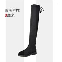瘦瘦靴150小个子过膝靴内增高长筒弹力靴秋冬高跟女矮个子长靴子SN2897