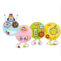 木质多功能教玩具早教积木墙体儿童墙面身高尺毛毛虫益智墙面玩具