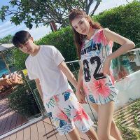 情侣泳衣保守三件套分体运动学生韩国平角游泳衣显瘦温泉女士泳装