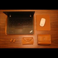 联想ThinkPad X1内胆包New X1皮套Carbon保护套IBM笔记本电脑包 thinkpad X1棕色五件套