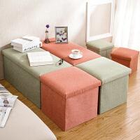 可坐人折叠收纳凳整理箱储物凳 多功能沙发凳换鞋凳小凳子收纳箱