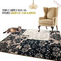抽象潮流大地毯涤纶线圈客厅满铺地方形茶几沙发