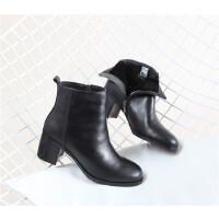 402 牛皮 保暖羊毛内里 女短靴 冬季女靴