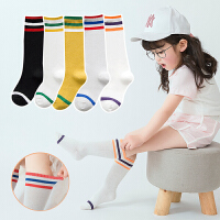 儿童袜子3-5-7-9岁男童女童中筒袜学生袜演出袜足球袜薄棉夏yly