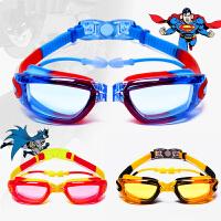 超人蝙蝠侠闪电侠儿童泳镜男女童大框高清防水防雾游泳眼镜潜水镜