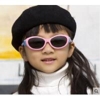 可爱卡通眼镜户外男女儿童太阳镜小孩偏光太阳镜墨镜超软儿童硅胶橡胶