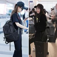双肩包女2018新款韩版潮大容量旅行包百搭牛津布帆布背包街拍书包