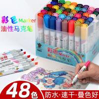 【券后9.9元包邮】马克笔 12色双头马克笔 儿童小学生绘画彩笔套装 24色48色安全无毒油性