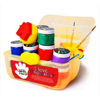 美乐joanmiro儿童手指画套装颜料无毒水洗绘画工具