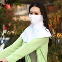 夏季防晒面罩女防紫外线薄款透气防雾霾护颈披肩骑车防尘防晒口罩