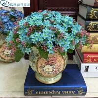72花满天星仿真花瓶盆套装假花绢花束家居装饰品插花客厅
