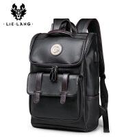 潮流皮背包男士男韩版双肩包旅行包时尚休闲英伦青年书包电脑包潮