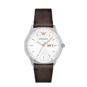 Armani阿玛尼印花皮革带男士手表 简约时尚防水石英表 AR1999