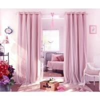 粉色紫色米色韩式蕾丝飘窗帘客厅卧室全遮光成品定制窗纱